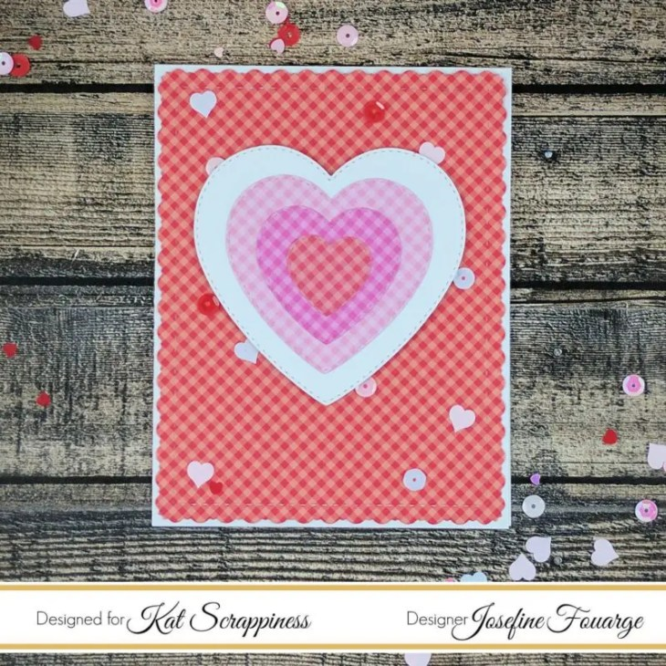 Layered Valentines card with Doodlebug paper