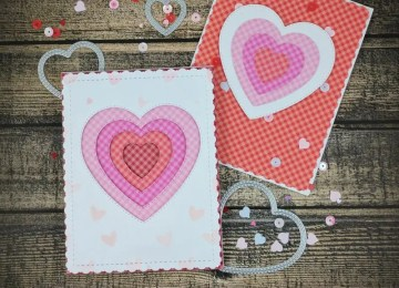 Layered Hearts Valentines Cards