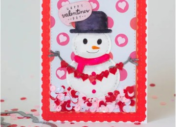 Stitched & Layered Snowman Die by Kat Scrappiness