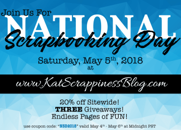 National Scrapbooking Day 2018 at Kat Scrappiness