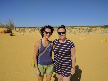 two ladies in the desert
