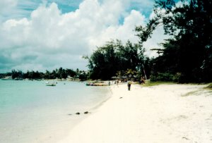 powdery beach