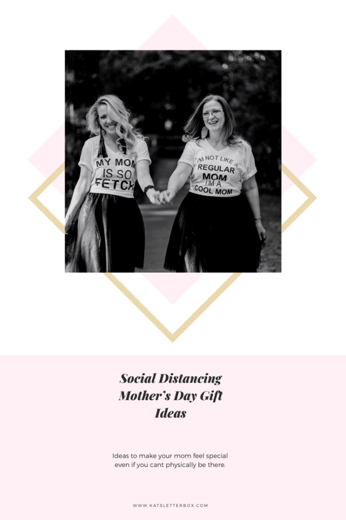 This image shows that the post describes Mother's Day gift ideas for social distancing.