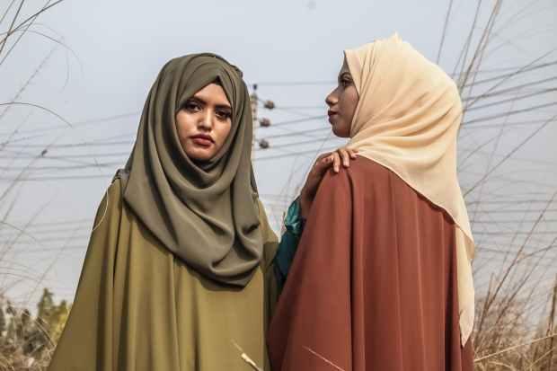 women s brown hijab