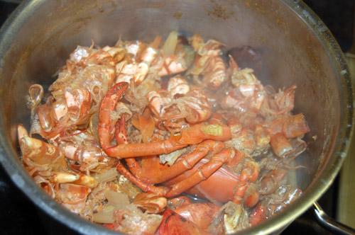 Consommé de crustacés