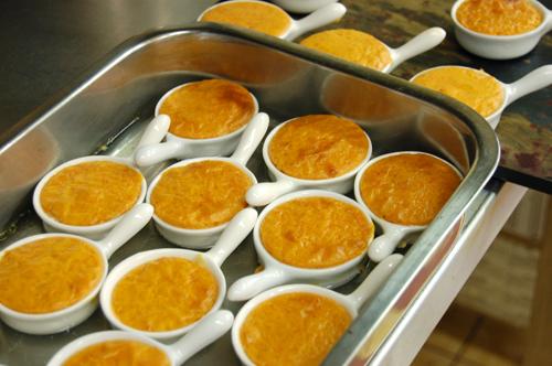Crèmes brulées au parmesan
