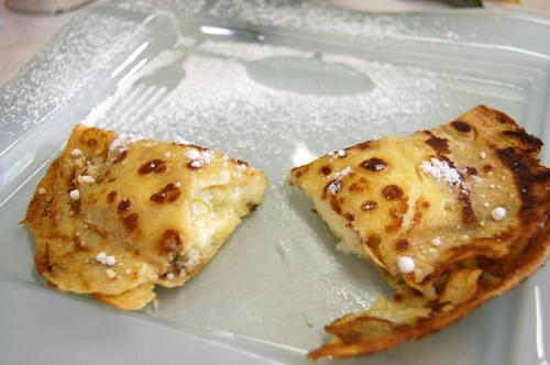 Crêpes fourrées à la crème pâtissière