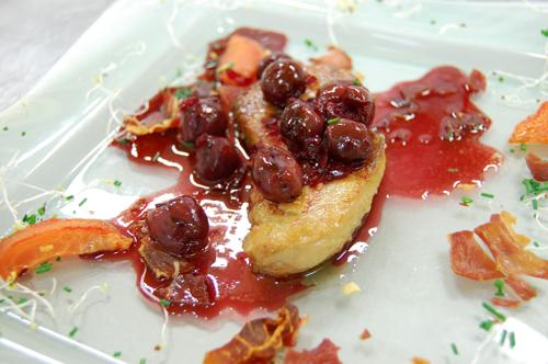 Foie gras de canard aux griottines