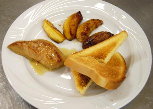 Foie gras, pommes caramélisées