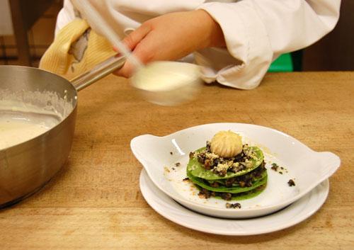 Lasagne verte aux escargots