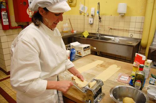 Pâte à lasagne au laminoir