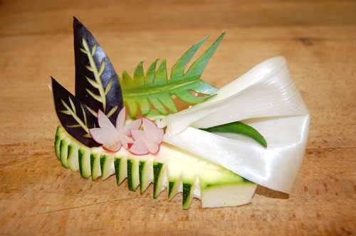 Sculpture de légumes