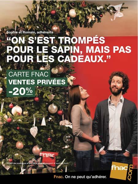 Affiche de publicité pour la Fnac