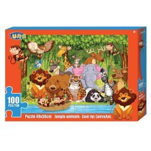 Luna – Puzzle Παιδικά – Ζώα Της Ζούγκλας 100 Pcs 621580