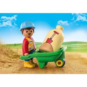 Playmobil 1.2.3 – Εργάτης Με Καροτσάκι 70409