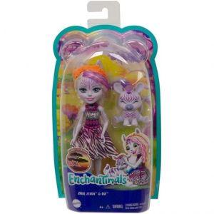 Mattel Enchantimals – Κούκλα Και Ζωάκι  Zadie Zebra & Ref GTM27 (FNH22)