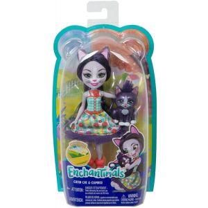 Mattel Enchantimals – Κούκλα Και Ζωάκι Ciesta Cat & Climber GJX40 (FNH22)