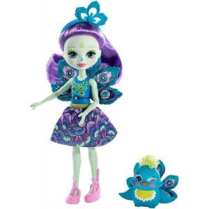 Mattel Enchantimals – Κούκλα Και Ζωάκι Patter Peacock & Flap FXM74 (DVH87)