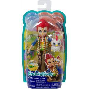Mattel Enchantimals – Κούκλα Και Ζωάκι Redward Rooster & Cluck GJX39 (FNH22)