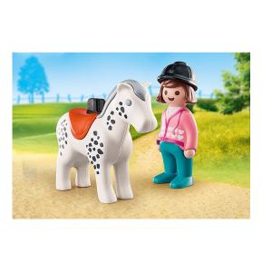 Playmobil 1.2.3 – Αναβάτρια Με Άλογο 70404