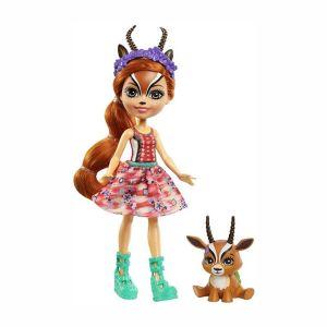 Mattel Enchantimals – Κούκλα Και Ζωάκι Gabriela Gazelle & Racer GTM26 (FNH22)