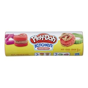 Hasbro Play-Doh – Cookie Canister Play Food Με 2 Χρώματα Chocolate Chip Cookie E5205