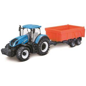 Bburago New Holland Agriculture – Farm Tracktor With Combination Trailer 18-31658