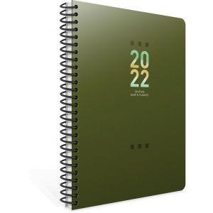 Unipap – Ημερήσιο Ημερολόγιο Σπιράλ Tivoli 2022, 12×17 Πράσινο 622-1712-83