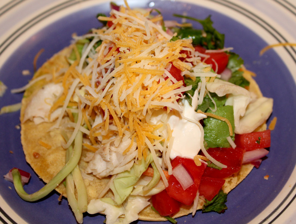 Fish Taco with Toppings