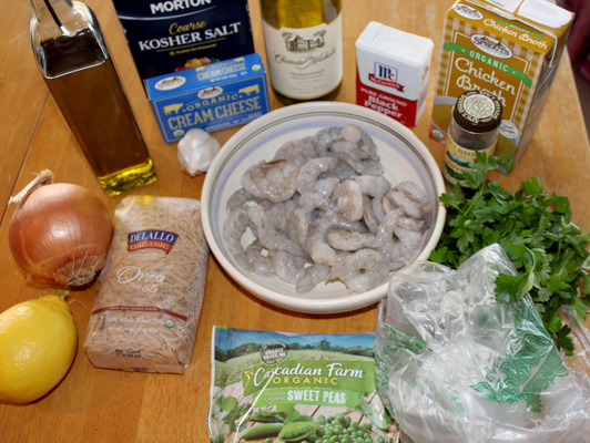 Ingredients for Quick Lemony Shimp with Orzo
