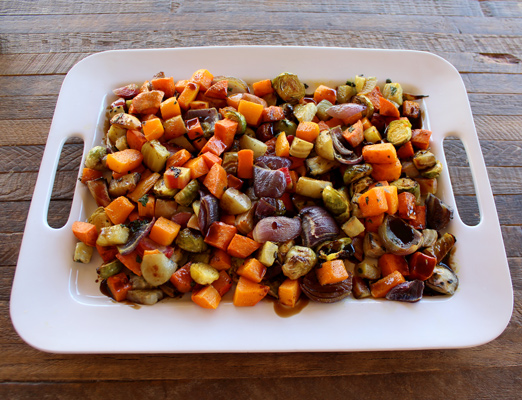 Fall Roasted Vegetables with Balsamic Syrup