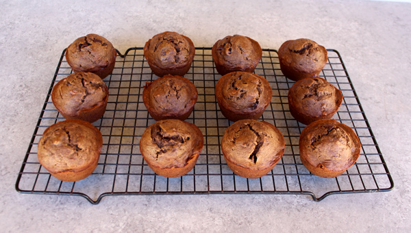 muffins cooling on wire rack