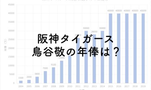 阪神タイガース鳥谷敬の年俸は?2019年は4億円!のアイキャッチ画像