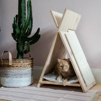 katten tipi hout