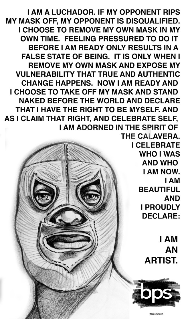 LUCHADOR POSTER w drawing