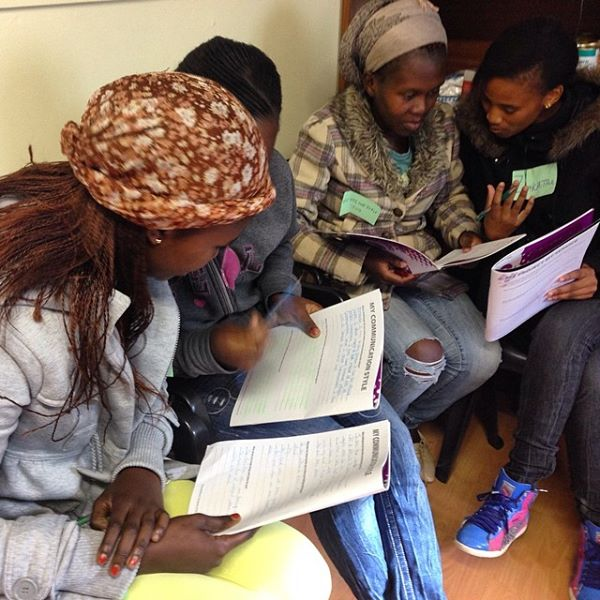 """Young women of @globalsorority #southafrica working on their communication skills"" - Loretta Cella"
