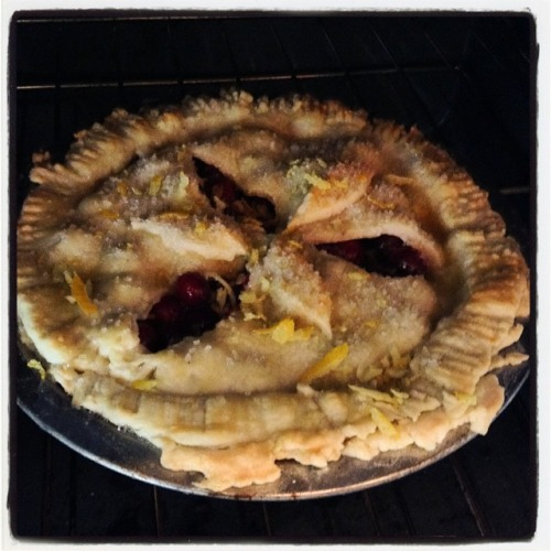 This the season for pie! Cranberry orange with lemon zest! In honor of Claudia 1965-2007