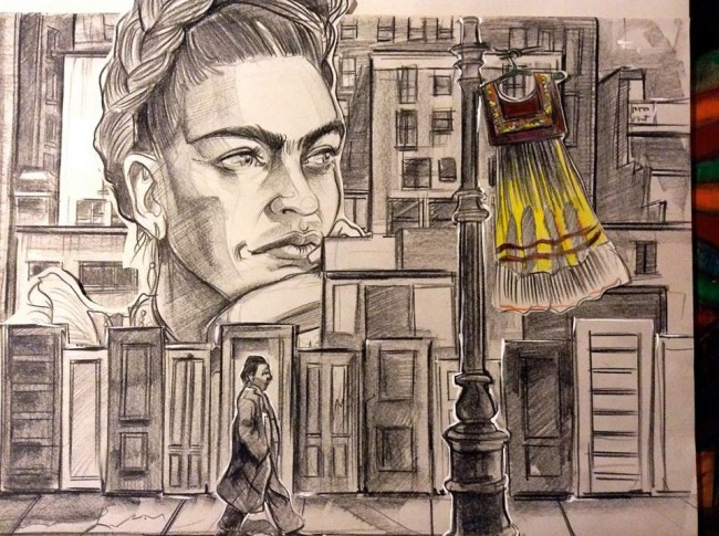"My interpretation of Kahlo's ""My Dress Hangs There, 1933"""