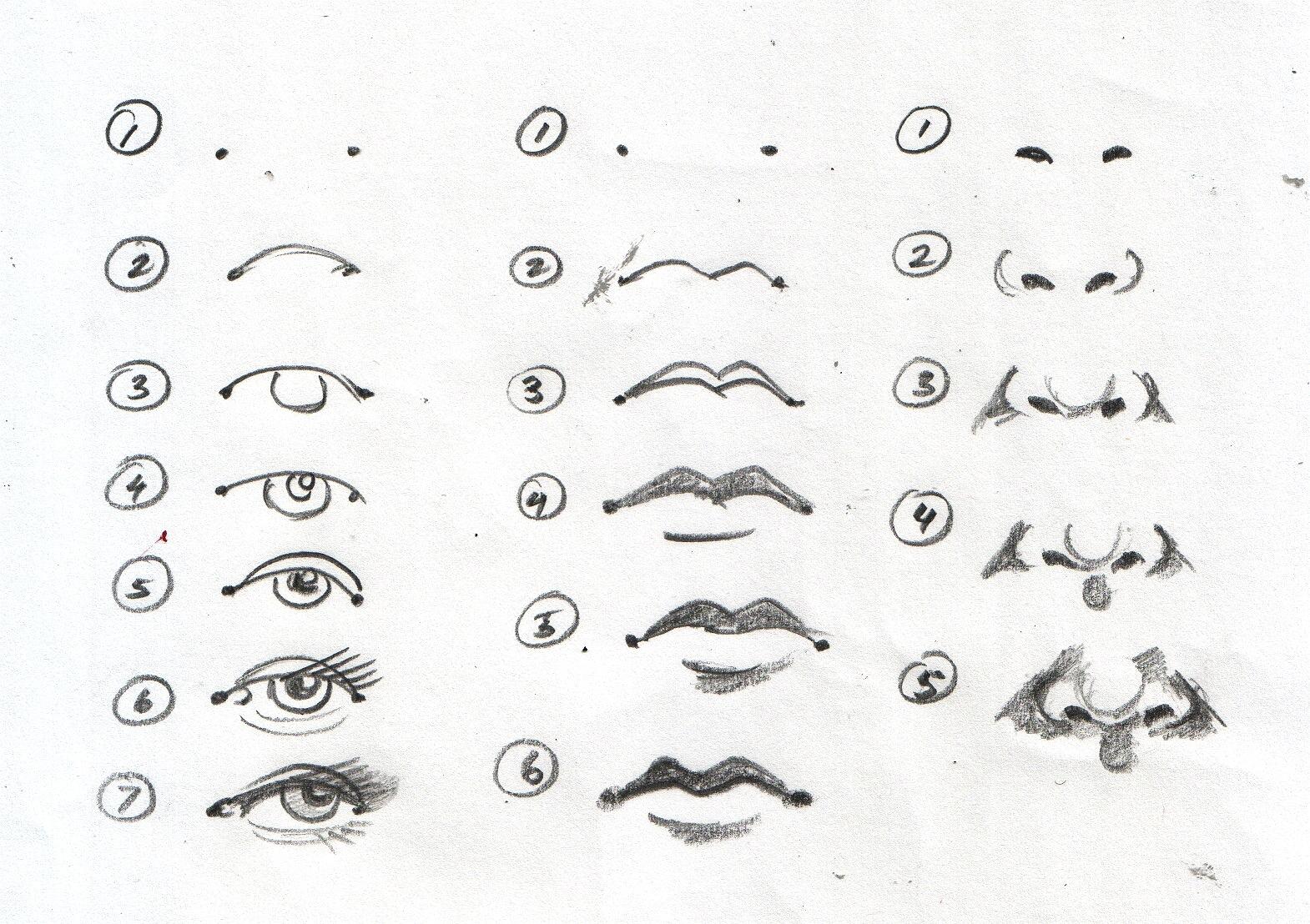 Sketch Mouth Worksheet