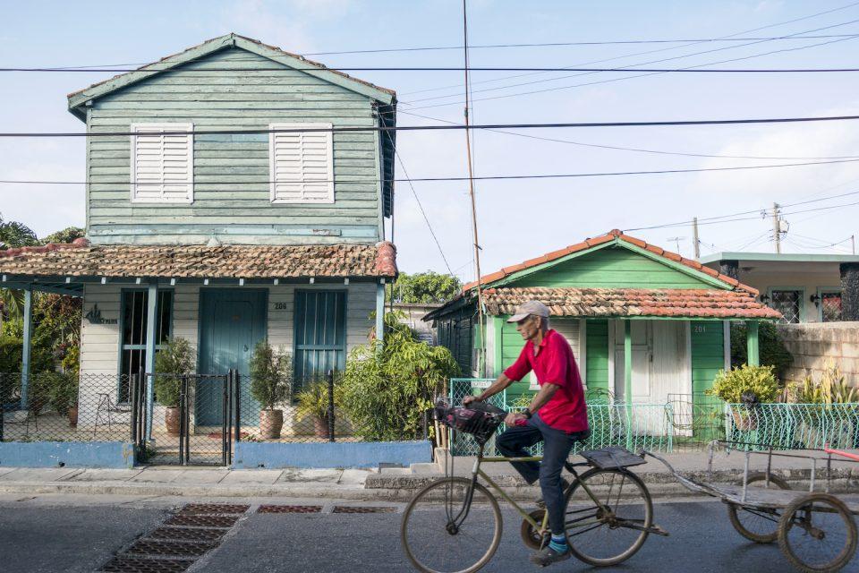 cyclist in Varadero, Cuba