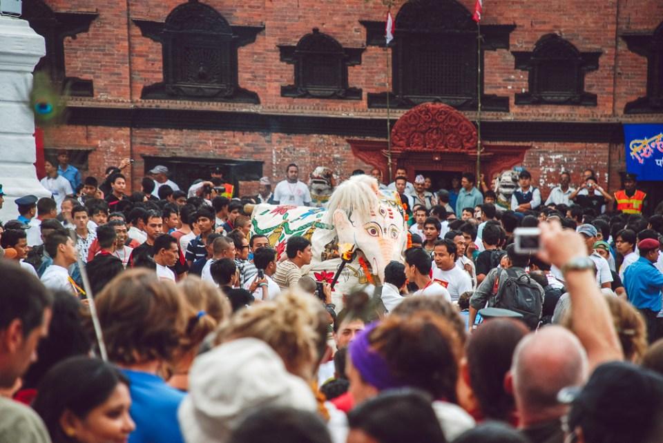 Indra Jatra a Durbar Square di Kathamndu