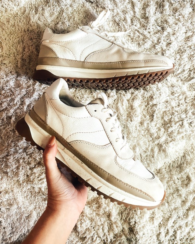 The Fall Madewell Edit, Madewell Kickoff Trainer Sneakers in Leather