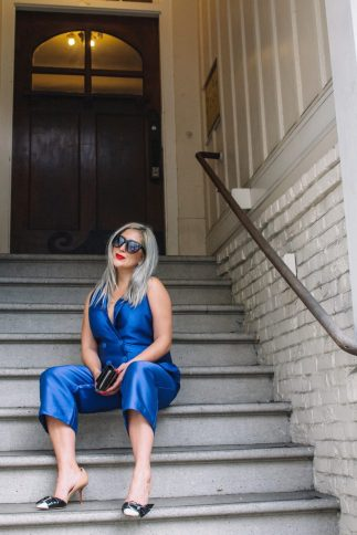 ASOS, As Seen On Me, Blue Jumpsuit, Holiday Style, KatWalkSF, Kat Ensign, Blogger Style, Fashionista, Fashion Diary, SF Blogger, SF Style, Top Fashion Blogger, Sale Alert, Cyber Week, Cyber Mondy