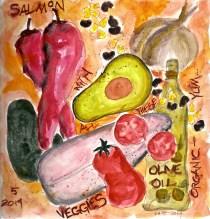 W14 COHO SALMON CORN BEANS