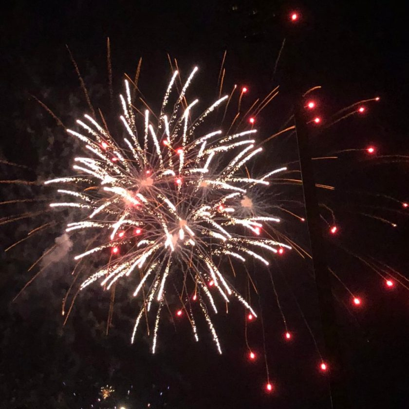 A picture from the fireworks display Wednesday.