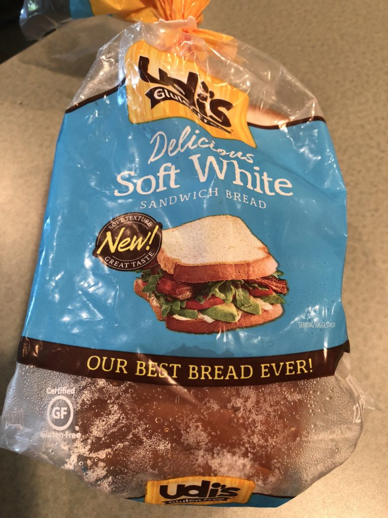 A picture of the bread in the packaging.