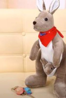 Mother And Joey Kangaroo Soft Stuffed Plush Toy photo review