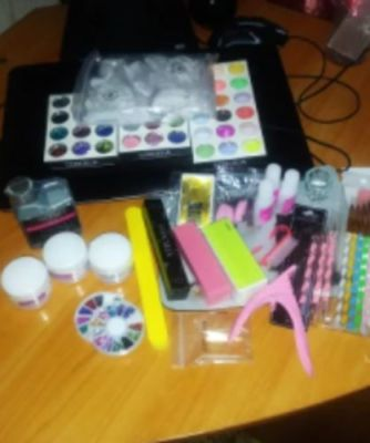 Professional Acrylic Nails Kit With Lamp For Manicure photo review