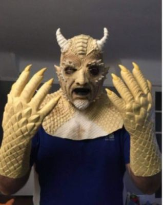 Belial The Demon Mask Devil Latex Cosplay Costume Halloween Mask photo review