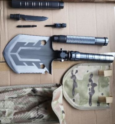 Portable Military Folding Shovel With Tactical Waist Pack & Multi-Tools photo review